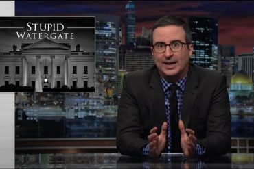 "Last Week Tonight on HBO, ""Stupid Watergate"""